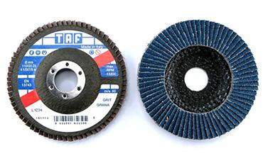 dischi-lamellari-su-supporto-plastica-e-fibra-per-abrasivi-taf-per-pulizia-e-la-finitura-di-superfici