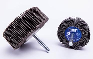 Ruote lamellari con gambo per Abrasivi TAF per Pulizia e la finitura di superfici